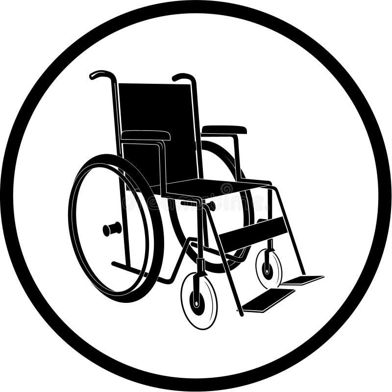 Ícone inválido da cadeira do vetor ilustração royalty free