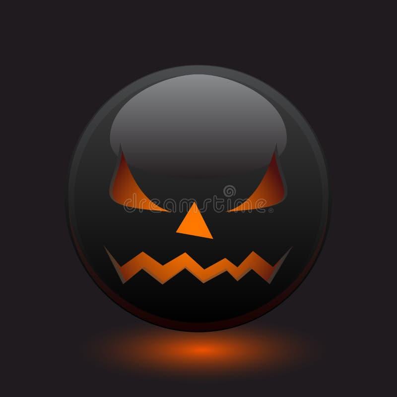 Ícone irritado de Halloween ilustração stock