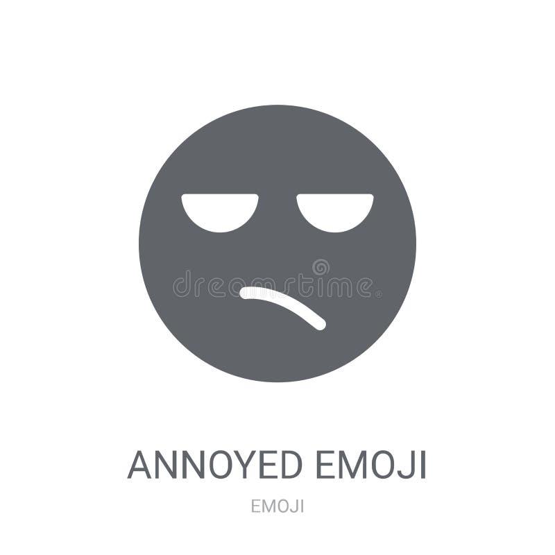 Ícone irritado do emoji  ilustração do vetor