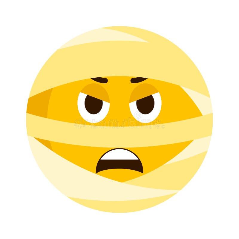 Ícone irritado do emoji da mamã ilustração do vetor