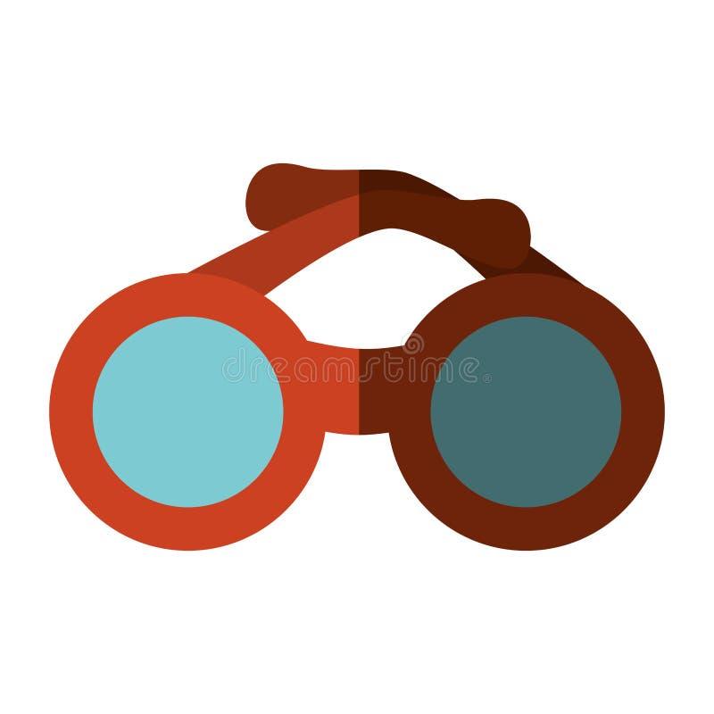 Ícone isolado accesory dos óculos de sol ilustração stock