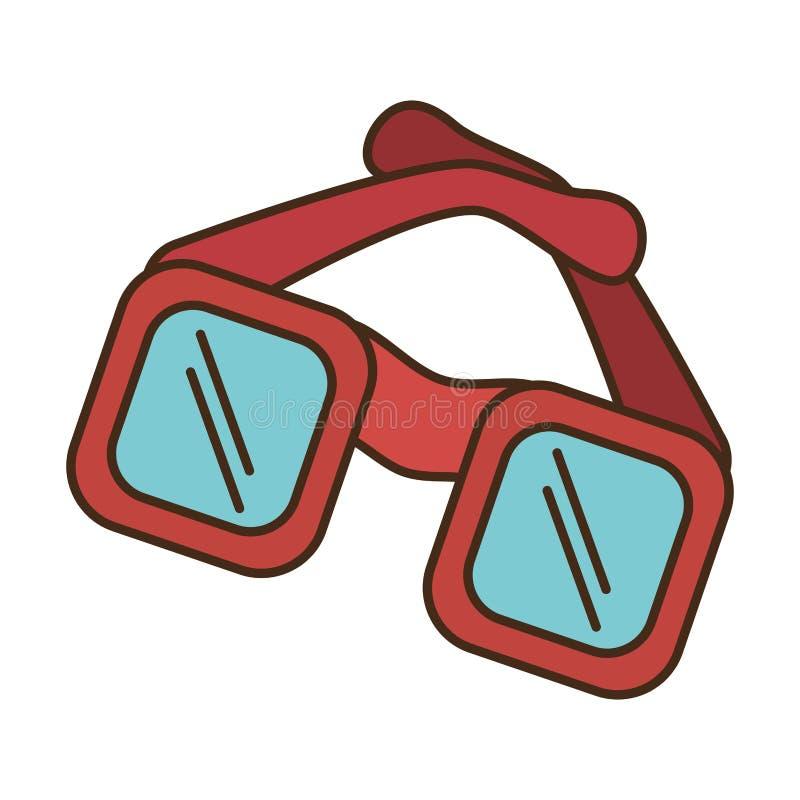 Ícone isolado acessório dos óculos de sol ilustração do vetor