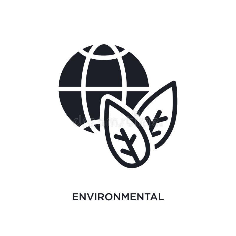 ícone isolado ambiental ilustração simples do elemento dos ícones espertos do conceito da casa símbolo editável ambiental do sina ilustração royalty free