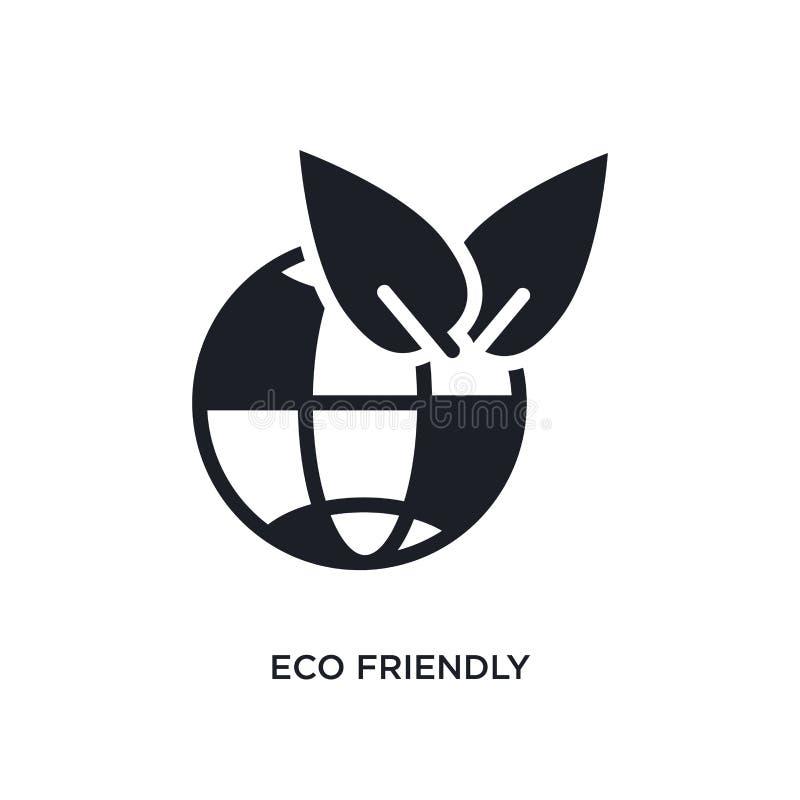 ícone isolado amigável do eco ilustração simples do elemento dos ícones espertos do conceito da casa símbolo editável amigável do ilustração royalty free
