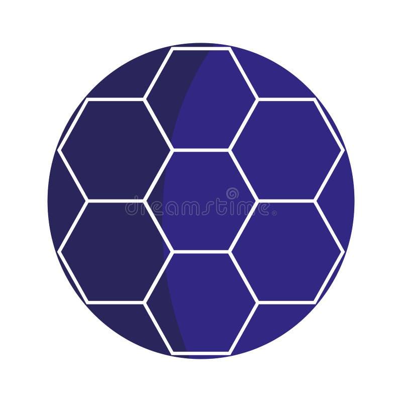 ícone isolado balão do futebol ilustração stock