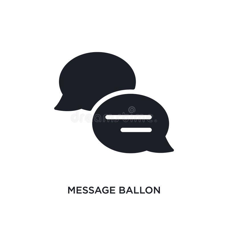 ícone isolado ballon da mensagem ilustração simples do elemento dos ícones finais do conceito dos glyphicons logotipo editável do ilustração do vetor