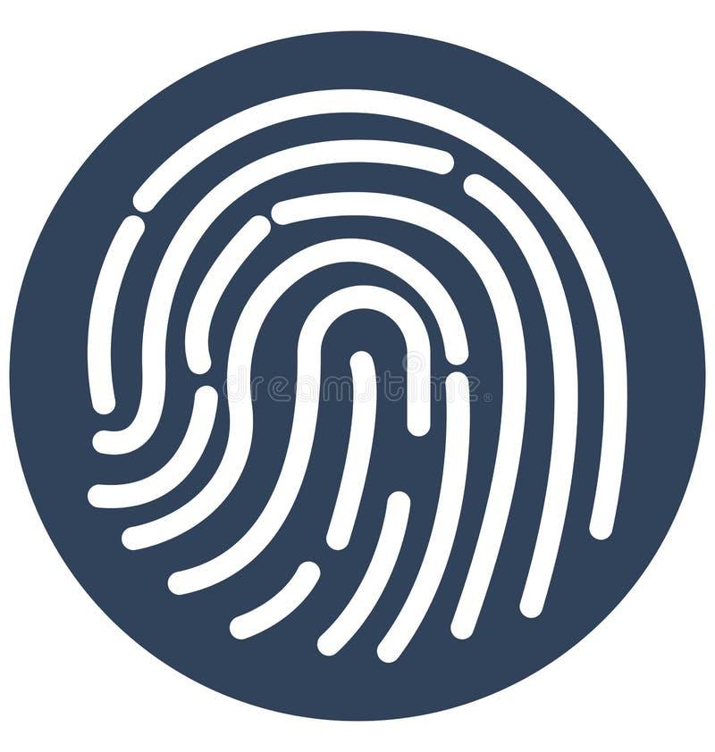 Ícone isolado biométrico do vetor que pode facilmente alterar ou editar ilustração royalty free