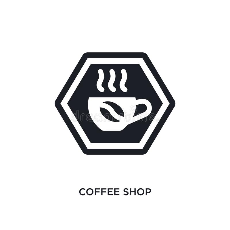 ícone isolado cafetaria ilustração simples do elemento dos ícones do conceito dos sinais projeto editável do símbolo do sinal do  ilustração stock
