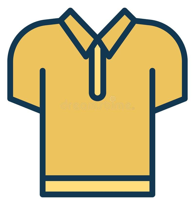 Ícone isolado camisas do vetor do pescoço de grupo que pode facilmente ser alterado ou editado ilustração stock