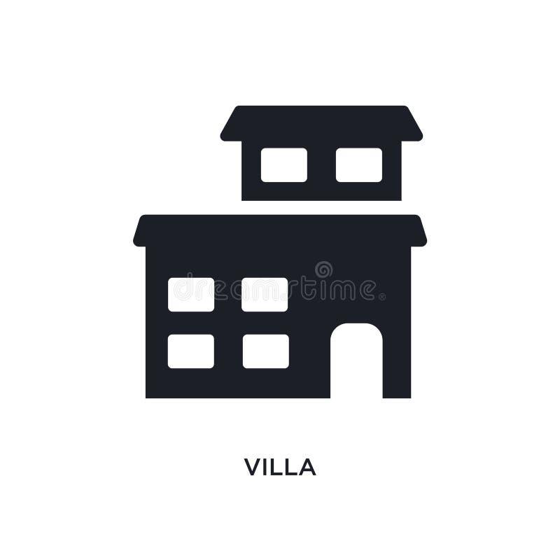 ícone isolado casa de campo ilustração simples do elemento dos ícones do conceito dos bens imobiliários projeto editável do símbo ilustração royalty free