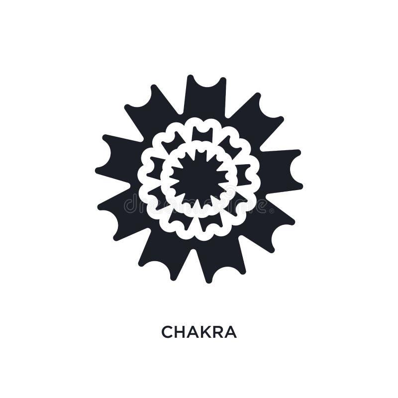 ícone isolado chakra ilustração simples do elemento dos ícones do conceito de india e de holi projeto editável do símbolo do sina ilustração do vetor