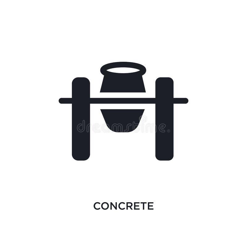 ícone isolado concreto ilustração simples do elemento dos ícones do conceito da construção projeto editável concreto do símbolo d ilustração royalty free