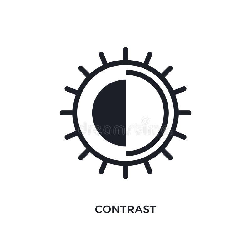 ícone isolado contraste ilustração simples do elemento dos ícones do conceito da fotografia projeto editável do símbolo do sinal  ilustração do vetor