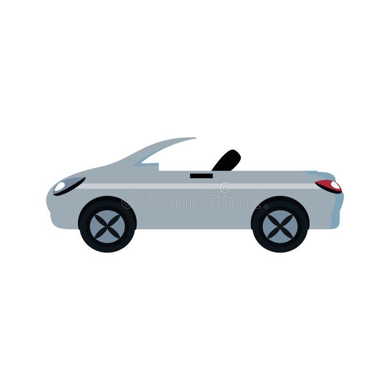 Ícone isolado convertível do carro ilustração do vetor