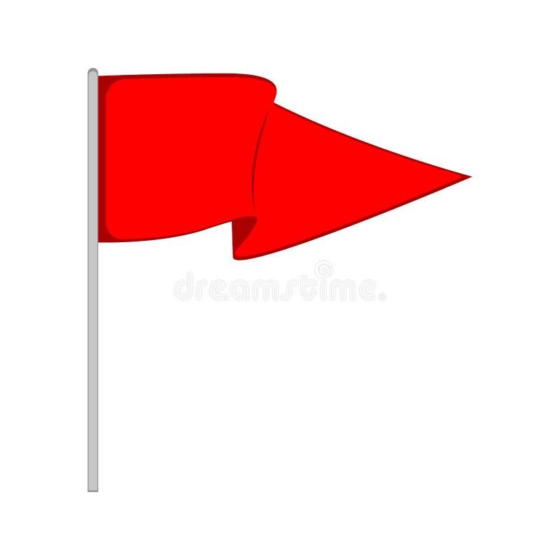 Ícone isolado da bandeira do canto do futebol ilustração stock