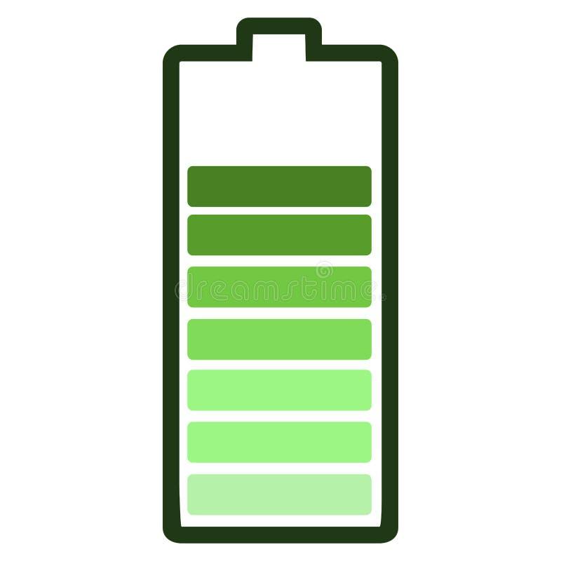 Ícone isolado da bateria ilustração royalty free
