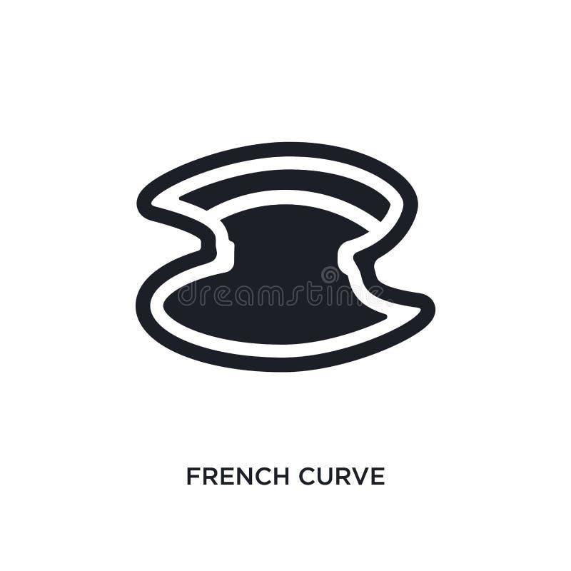 ícone isolado da curva francesa a ilustração simples do elemento de costura ícones do conceito projeto editável do símbolo do sin ilustração do vetor