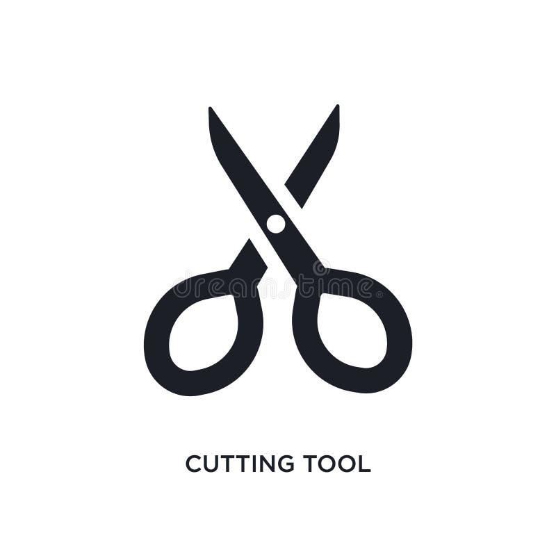 ícone isolado da ferramenta de corte a ilustração simples do elemento de costura ícones do conceito projeto editável do símbolo d ilustração do vetor