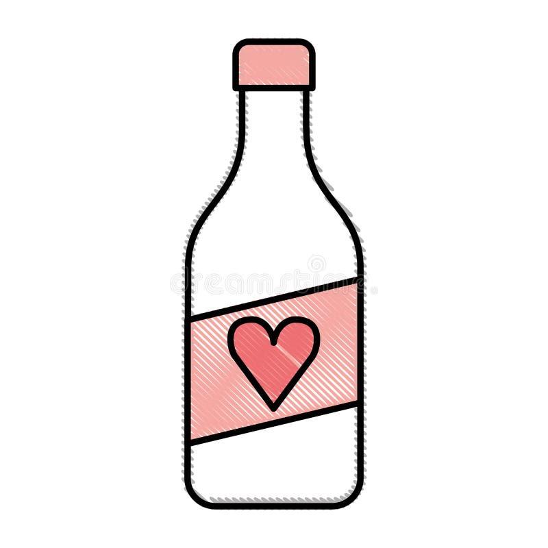 Ícone isolado da garrafa de vinho ilustração do vetor