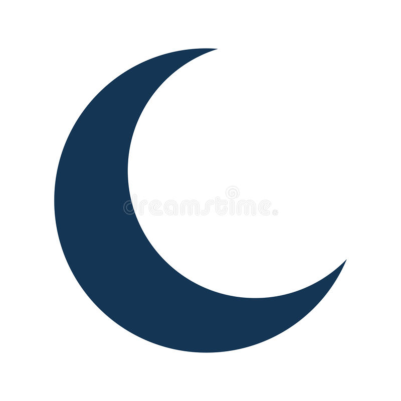 Ícone isolado da meia lua ilustração stock