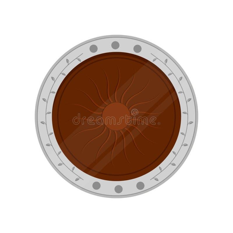 Ícone isolado da moeda de cobre ilustração do vetor