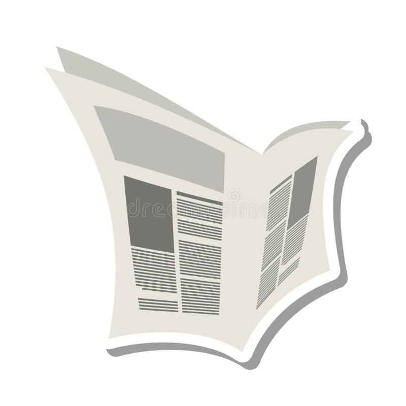 Ícone isolado da notícia informação de papel ilustração stock