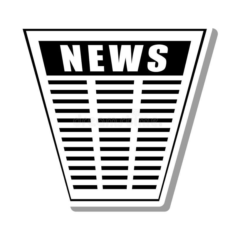 Ícone isolado da notícia informação de papel ilustração do vetor