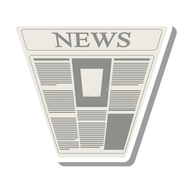 Ícone isolado da notícia informação de papel ilustração royalty free