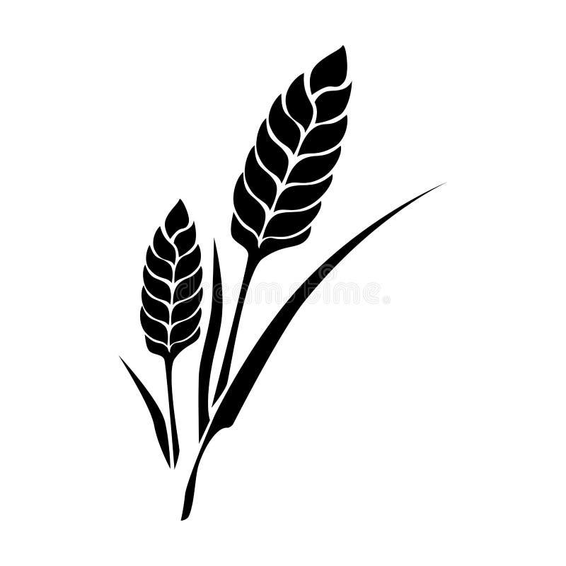 Ícone isolado da planta de arroz ilustração stock