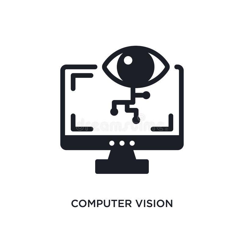 ícone isolado da visão de computador ilustração simples do elemento dos ícones do conceito general-1 símbolo editável do sinal do ilustração stock