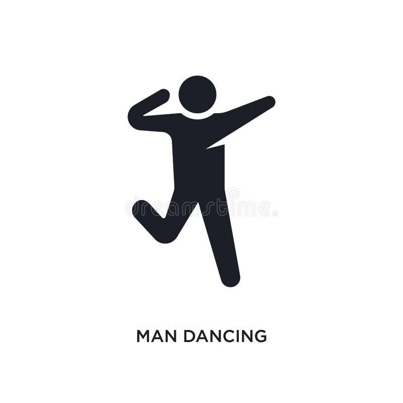 ícone isolado dança do homem ilustração simples do elemento dos ícones do conceito dos seres humanos projeto editável do símbolo  ilustração royalty free