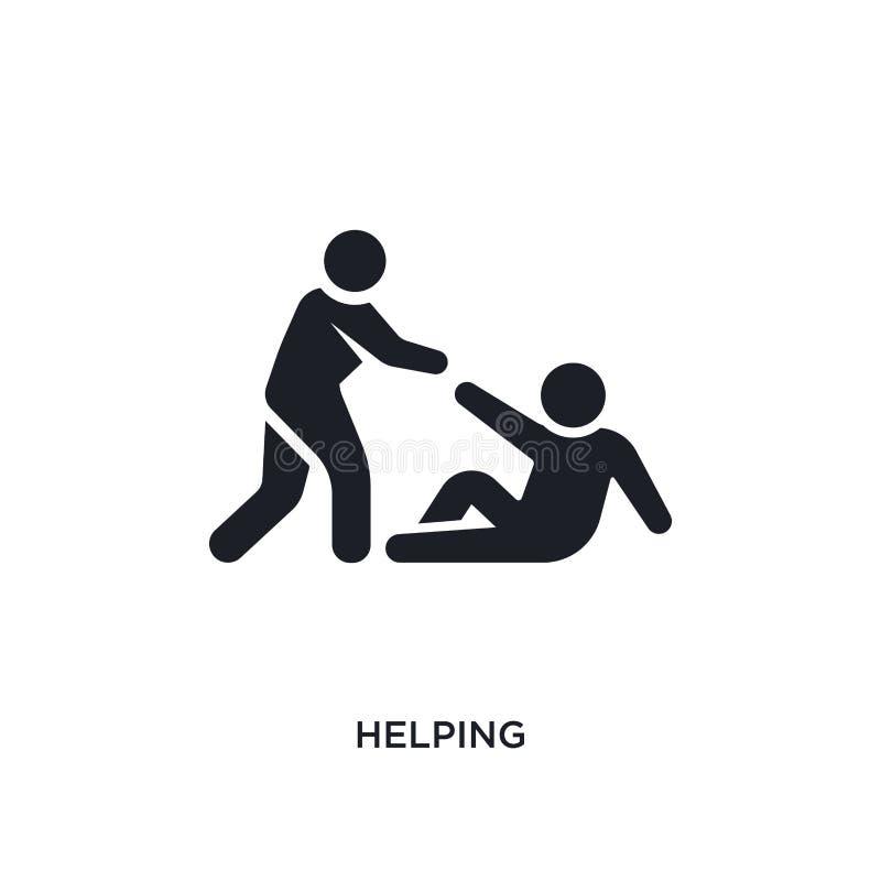ícone isolado de ajuda ilustração simples do elemento dos ícones do conceito dos seres humanos projeto editável de ajuda do símbo ilustração stock