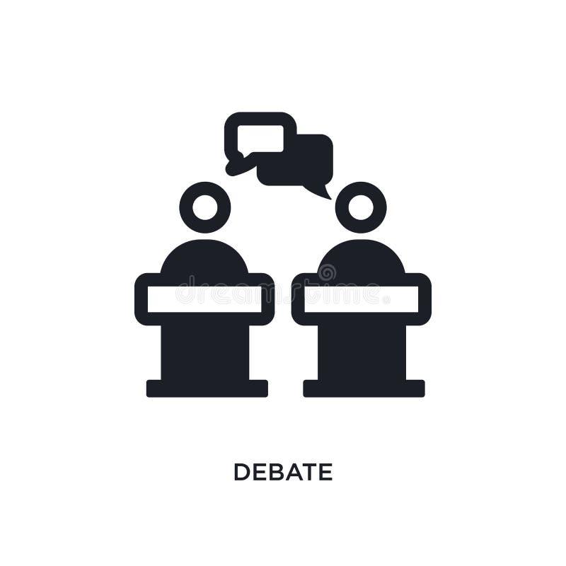 ícone isolado debate ilustração simples do elemento dos ícones políticos do conceito projeto editável do símbolo do sinal do logo ilustração do vetor