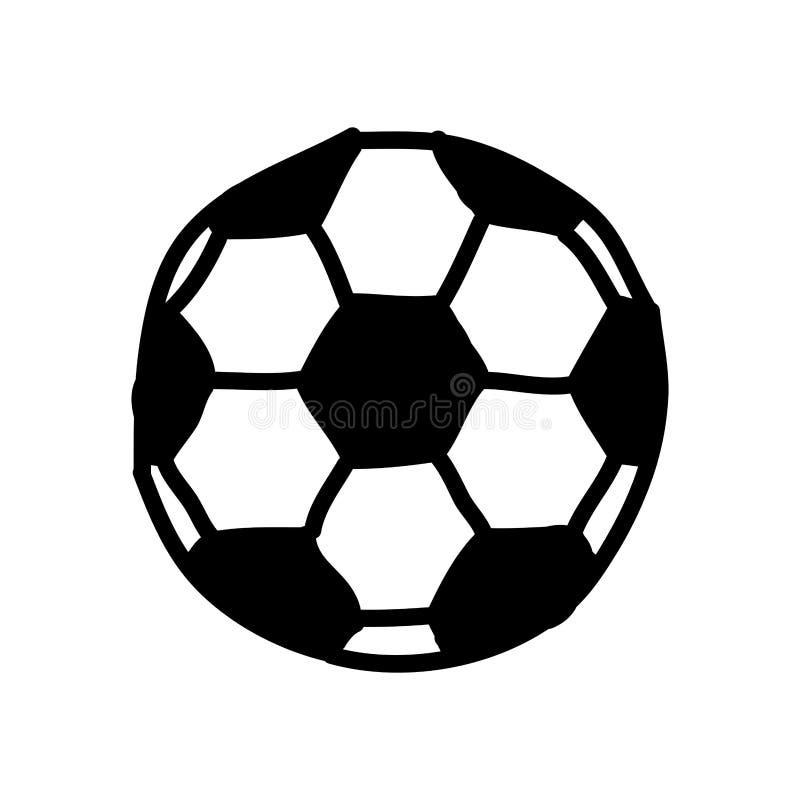 ícone isolado desenho do balão do futebol ilustração do vetor