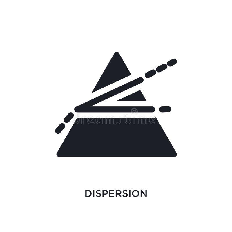 ícone isolado dispersão ilustração simples do elemento dos ícones do conceito da ciência projeto editável do símbolo do sinal do  ilustração stock