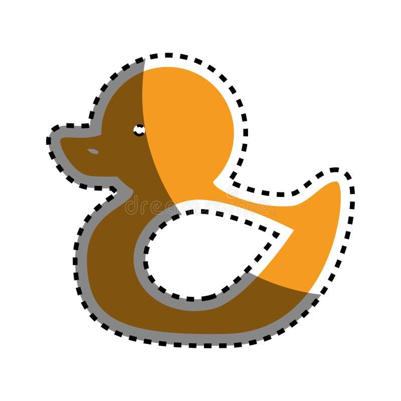 Ícone isolado do bebê brinquedo ducky ilustração stock