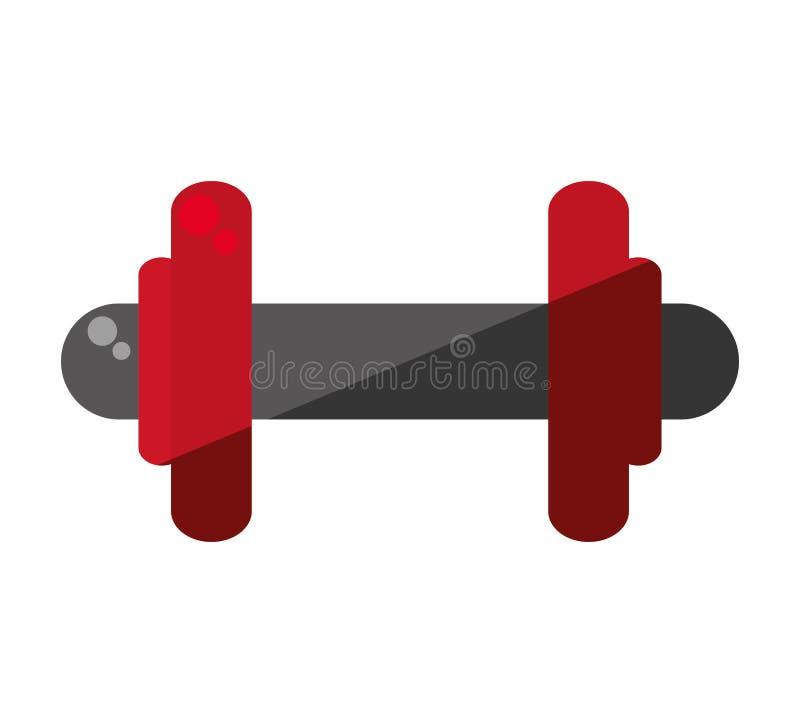Ícone isolado do equipamento de levantamento do peso ilustração stock