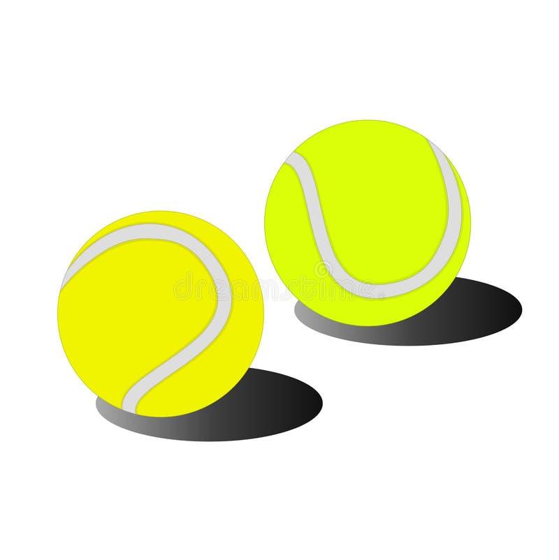 Ícone isolado do esporte da bola de tênis ilustração royalty free