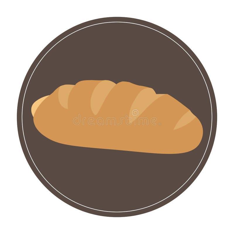Ícone isolado do pão ilustração royalty free