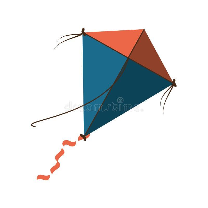 Ícone isolado do papagaio voo bonito ilustração royalty free