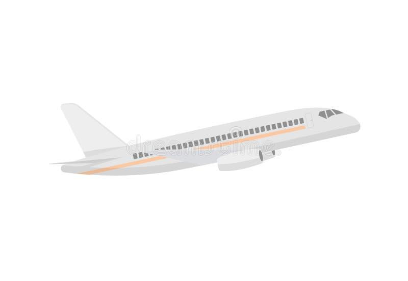 Ícone isolado do passageiro do voo avião moderno ilustração royalty free