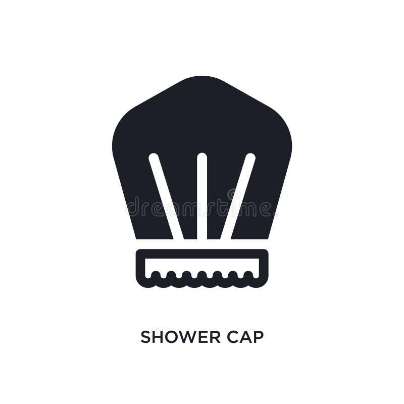 ícone isolado do tampão de chuveiro ilustração simples do elemento dos ícones do conceito da higiene projeto editável do símbolo  ilustração stock