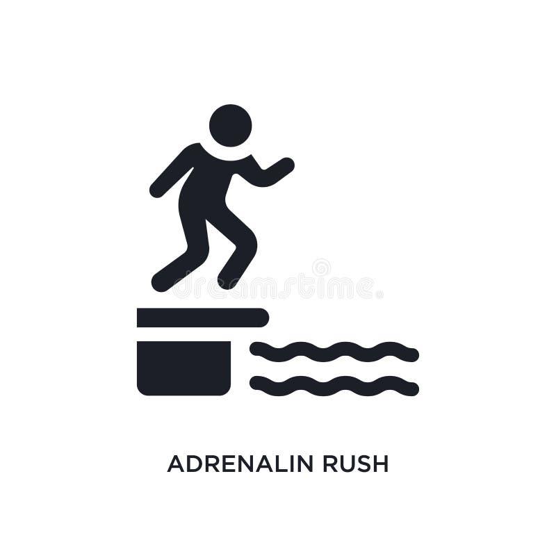 ícone isolado do vetor da adrenalina precipitação preta ilustração simples do elemento dos ícones do vetor do conceito da sauna p ilustração royalty free