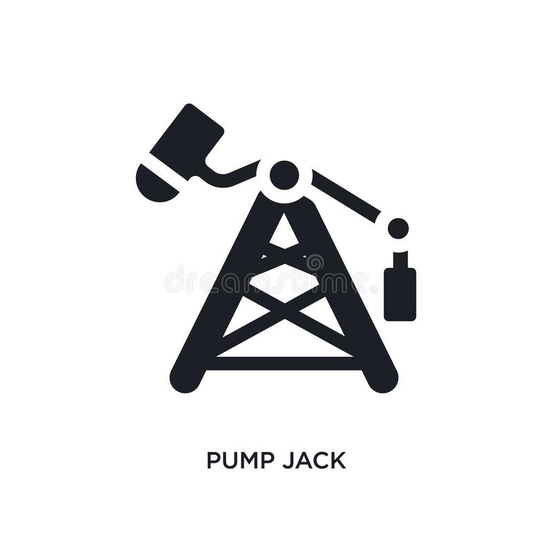ícone isolado do vetor da bomba jaque preto ilustração simples do elemento dos ícones do vetor do conceito da indústria logotipo  ilustração do vetor