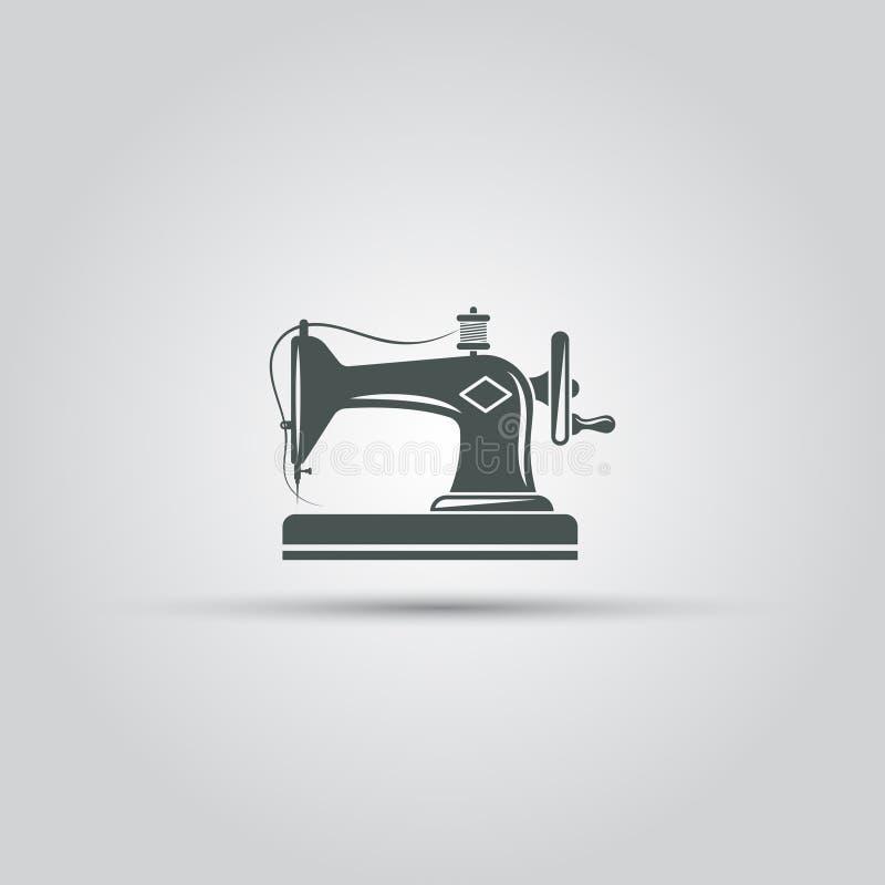 Ícone isolado do vetor da máquina de costura ilustração royalty free