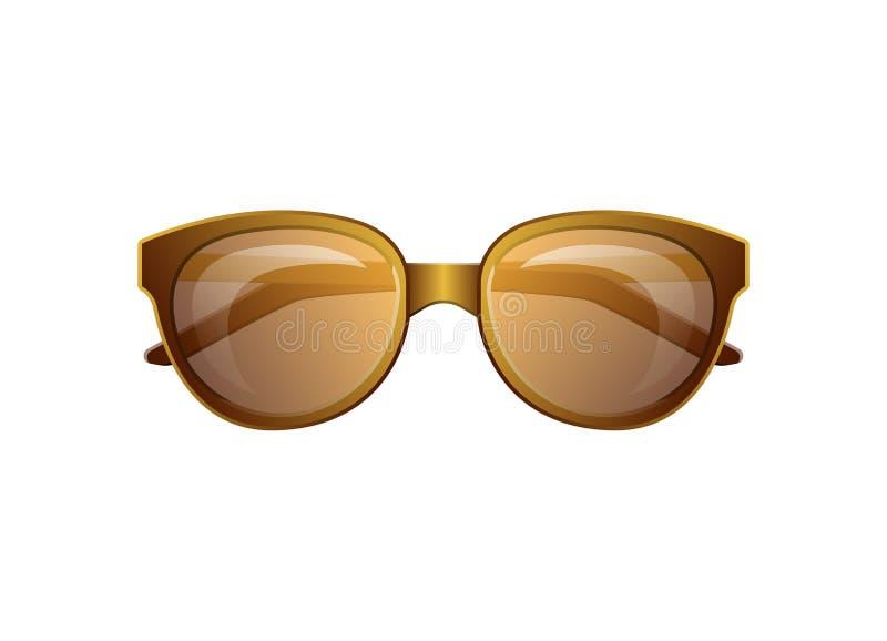 Ícone isolado do vetor do verão óculos de sol clássicos ilustração do vetor