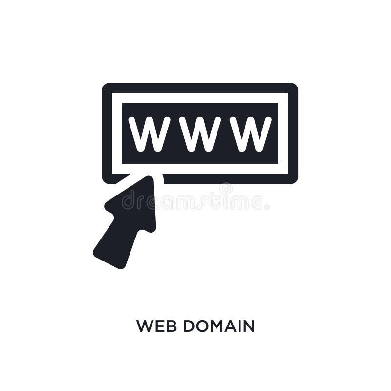 ícone isolado domínio da Web ilustração simples do elemento dos ícones de programação do conceito projeto editável do símbolo do  ilustração royalty free