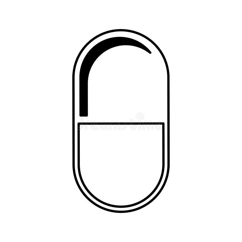 Ícone isolado droga da cápsula ilustração do vetor