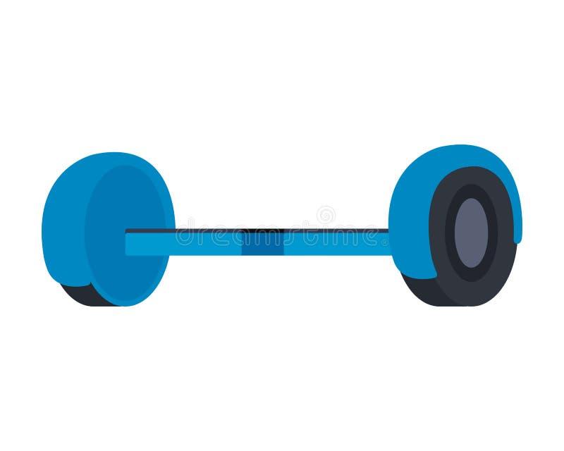 Ícone isolado elétrico de Hoverboard ilustração do vetor