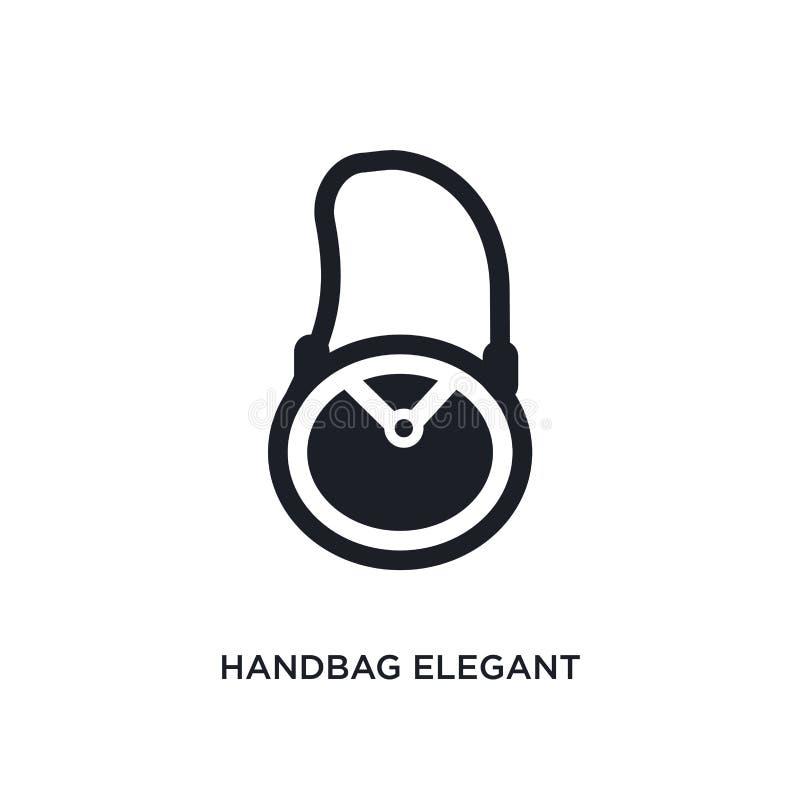 ícone isolado elegante da bolsa ilustração simples do elemento dos ícones do conceito da roupa da mulher sinal editável elegante  ilustração do vetor